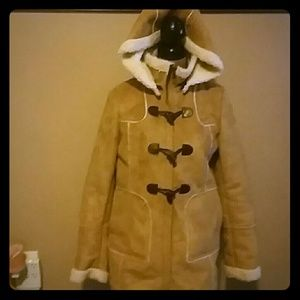 Faux Suede Fur Lined Jacket